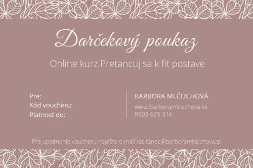 Darčekový poukaz - Online kurz Pretancuj sa k fit postave