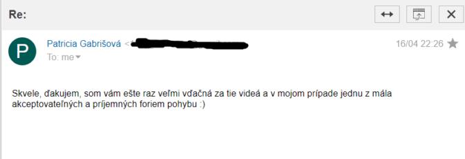 Referencia p. Gabrišová